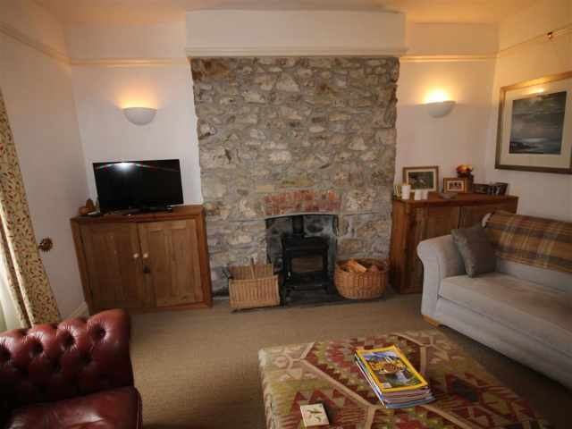 Feature wood burner in living room