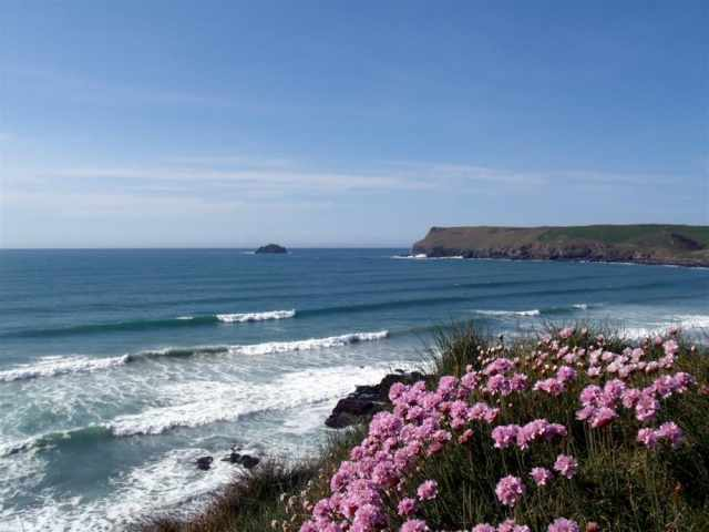 View across Polzeath bay