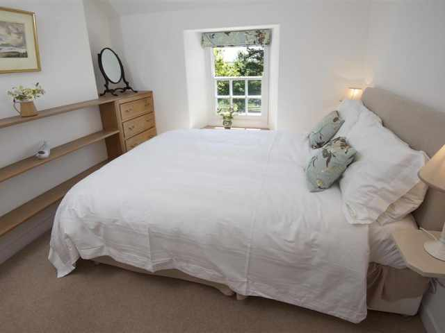 King bedroom in cottage