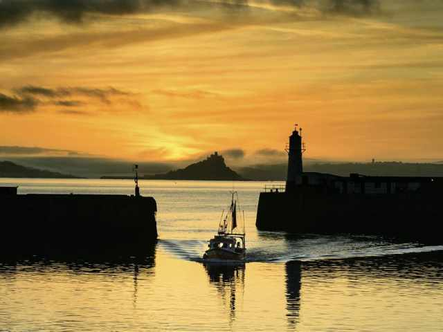 Newlyn at sunset