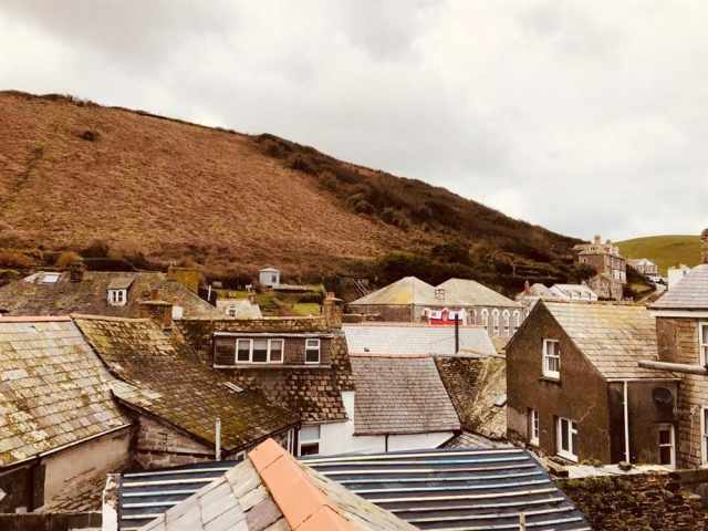 Cottage rooftops from the double