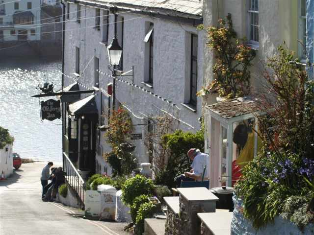 The Old Ferry Inn and quayside