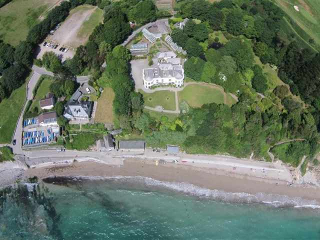 Birds eye view of Porthpean House