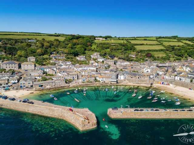 Aerial Cornwall Mousehole
