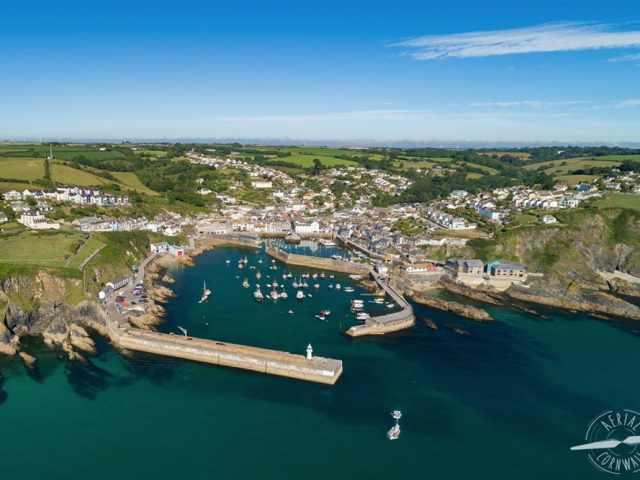 Mevagissey Aerial Cornwall