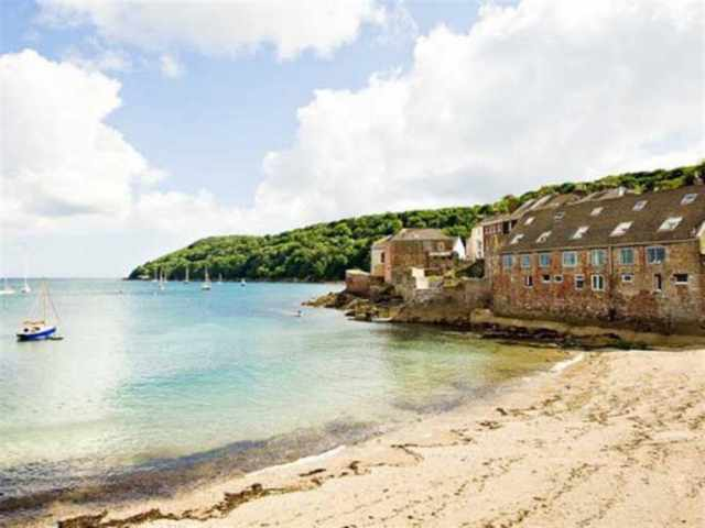 View of cottage from beach