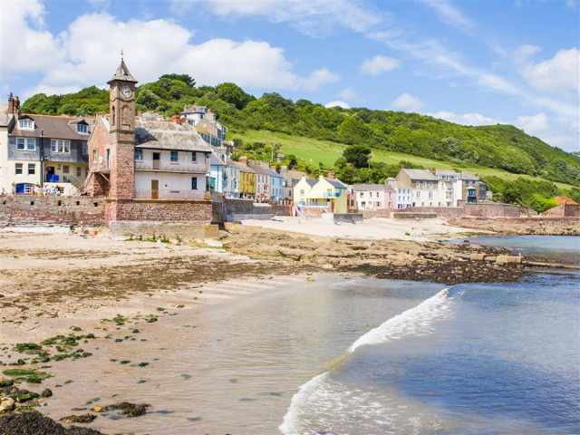 Kingsand clocktower and beach
