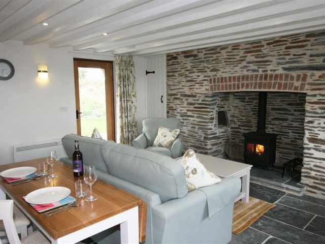 Dining, living and woodburner