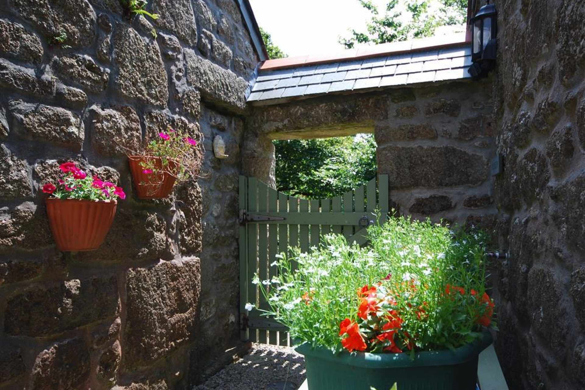 Pretty entrance at Tremerth Cottage