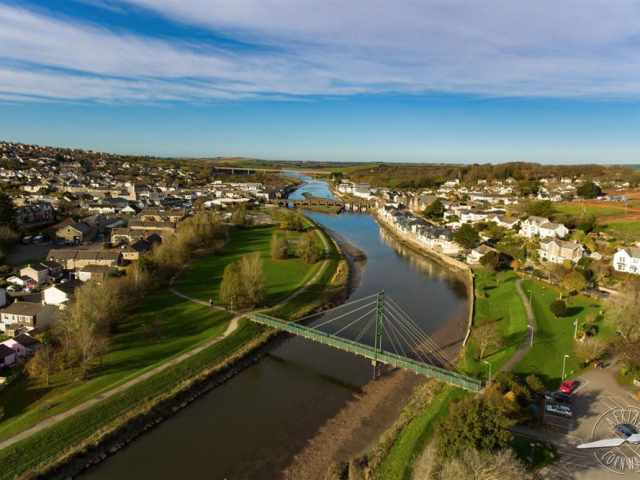Wadebridge by Aerial Cornwall