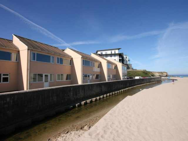 Exterior of flats and beach