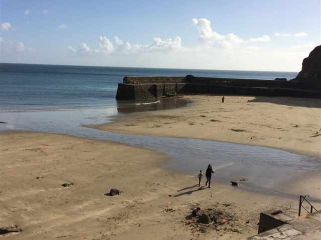Gorran Haven harbour beach