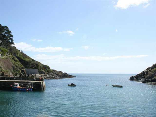 Entrance to Polperro harbour