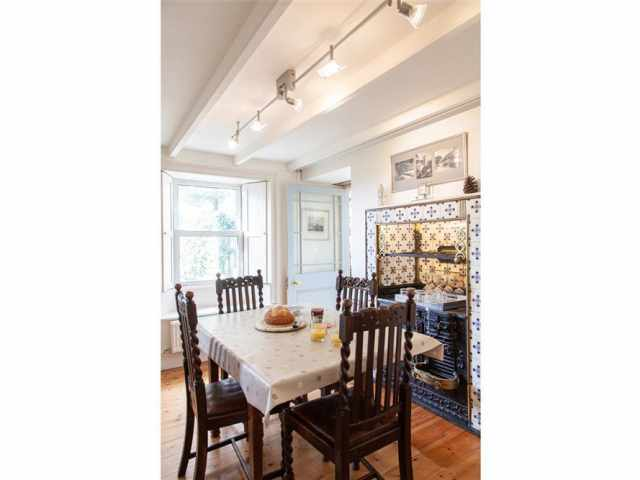 Dining room with old Range