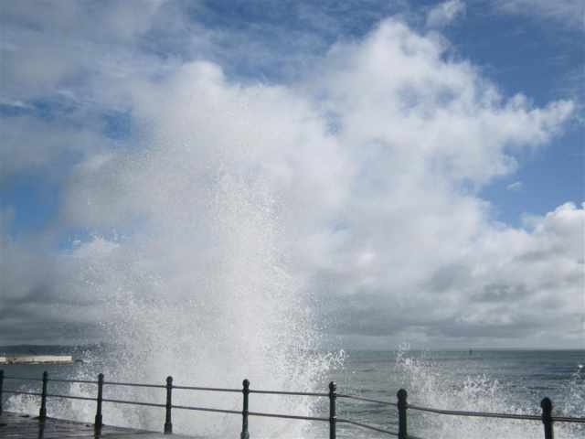 Penzance sea waves