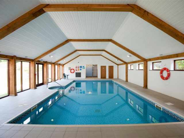 Heated indoor pool at Penpillick