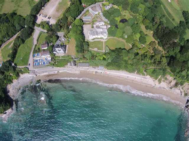 Aeiral view of porthpean beach