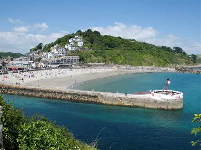 Looe beach and pier