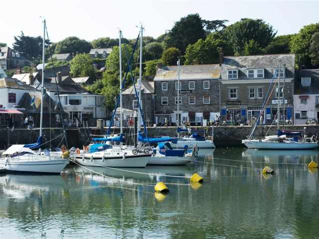 Padstow harbour nearby