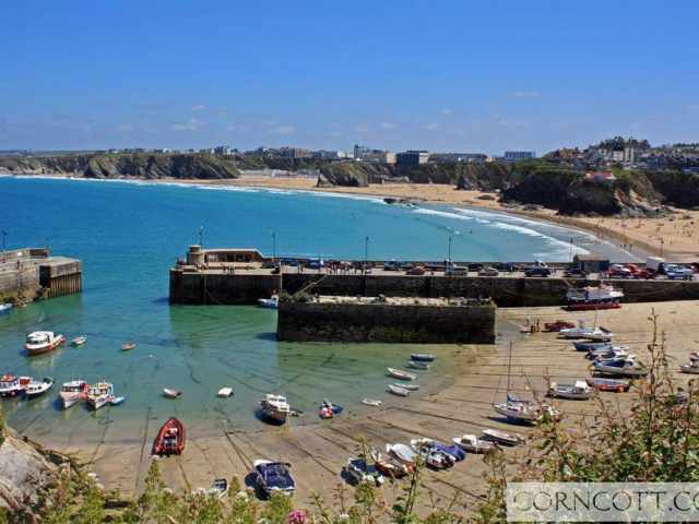 Newquay harbour and beaches