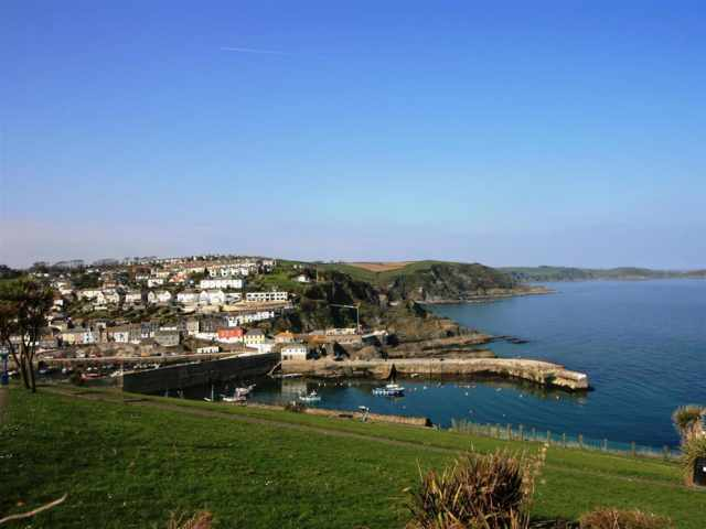 Mevagissey harbour and coastline