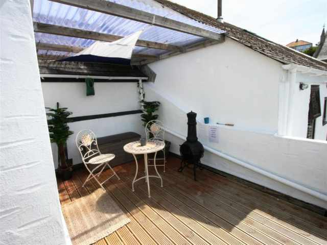 Covered roof deck