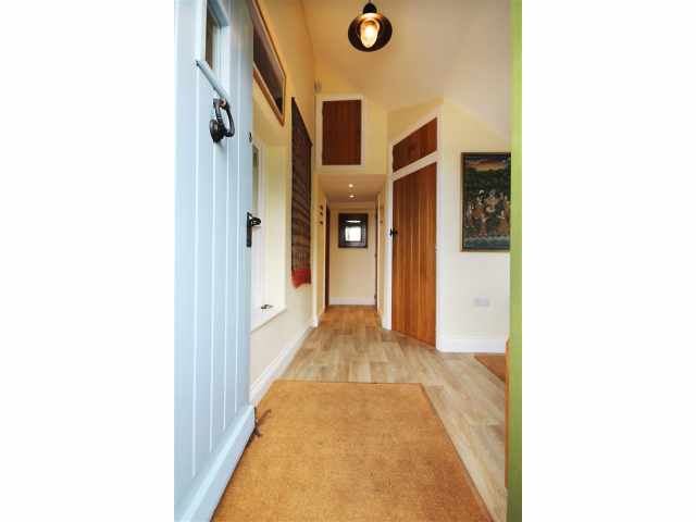 Front door opening into entrance halll